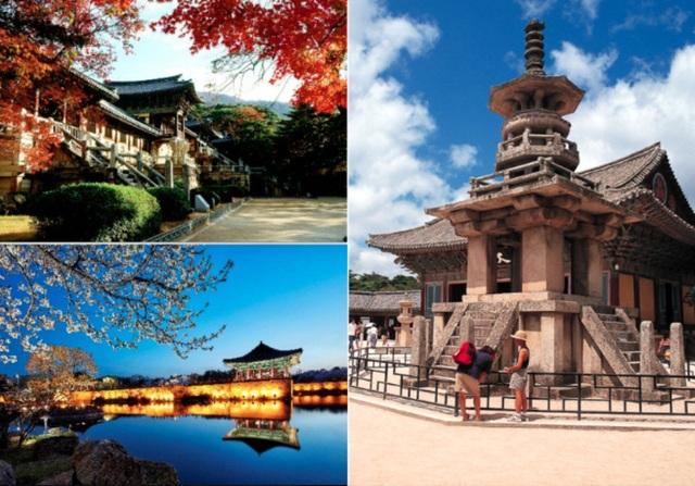 Gyeongju là địa danh du lịch tiêu biểu, nổi tiếng với tên gọi bảo tàng không mái. Nhiều di sản thế giới được UNESCO công nhận nằm rải rác trên địa phận Gyeongju.