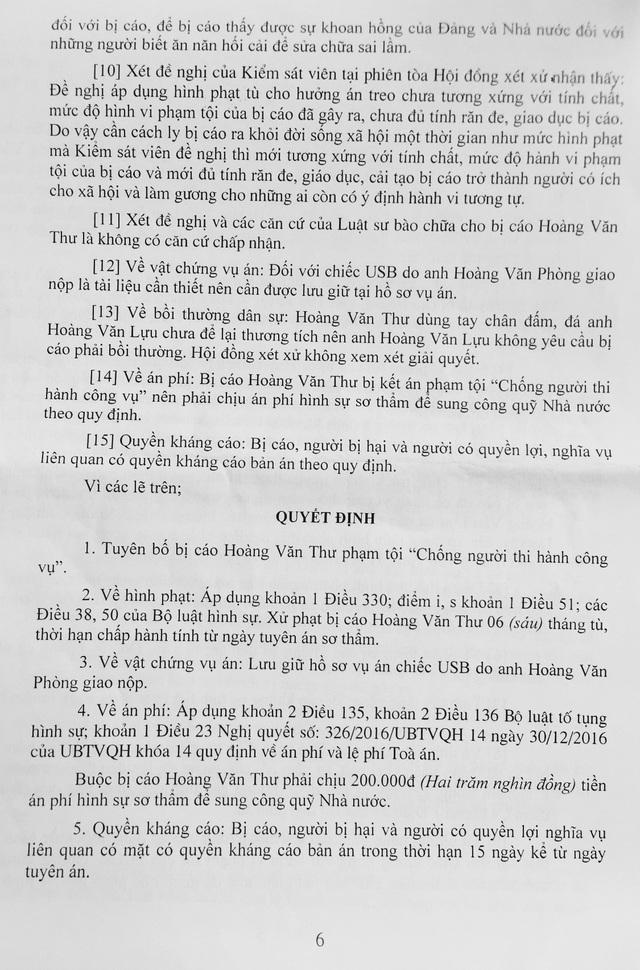 Viện kiểm sát nhân dân huyện Hữu Lũng đề nghị áp dụng hình phạt tù cho hưởng án treo nhưng Hội đồng xét xử - TAND huyện Hữu Lũng xử tù giam bị cáo Thư.