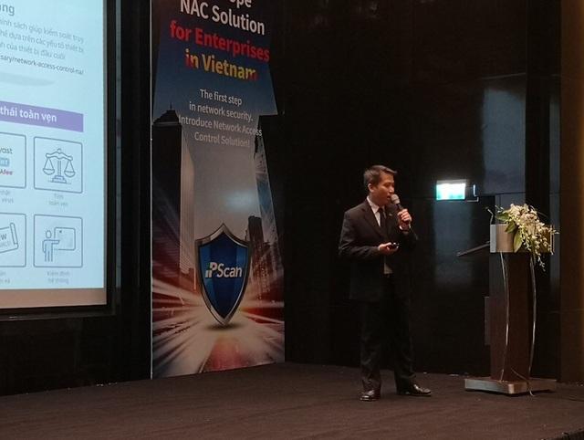 Ông Lê Minh Quang, Giám đốc Công ty TNHH Practech phản ánh nhu cầu ngày càng tăng về các giải pháp kiểm soát mạng và kiểm soát bảo mật thông tin tập trung của các doanh nghiệp Việt Nam.