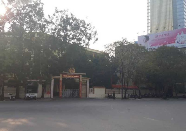 Trụ sở Công an thành phố Thanh Hóa nơi Đại tá Nguyễn Chí Phương làm việc.