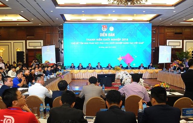 Thủ tướng Nguyễn Xuân Phúc chủ trì Diễn đàn thanh niên khởi nghiệp năm 2018