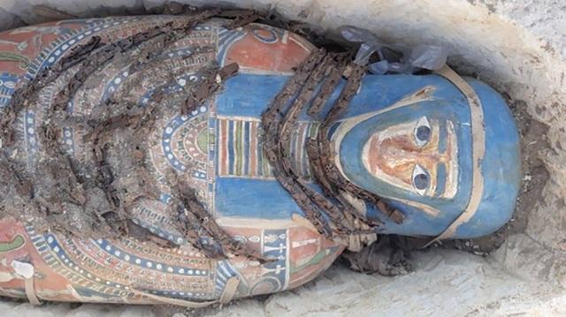 Một trong số những quách chứa xác ướp còn khá nguyên vẹn mới được phát hiện tại Ai Cập.