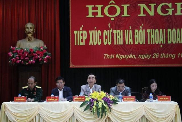 Buổi tiếp xúc cử tri và đối thoại doanh nghiệp của lãnh đạo tỉnh Thái Nguyên.