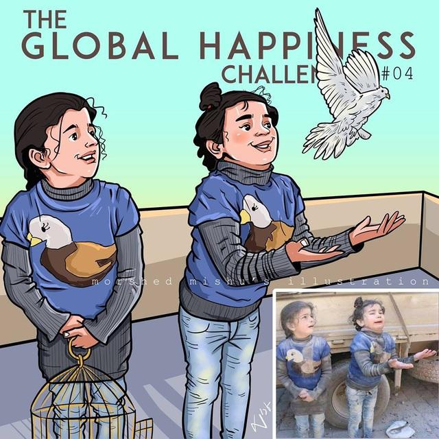 Nụ cười của trẻ thơ biến mất hoàn toàn trong chiến tranh, thay vào đó là gương mặt sợ hãi và khóc lóc