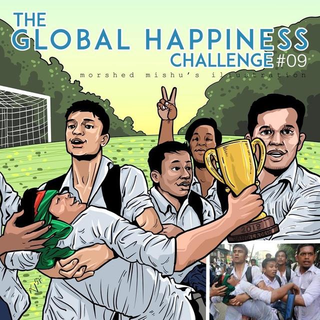 Khoảnh khắc đau thương được Mishu vẽ lại bằng hình ảnh hạnh phúc sau chiến thắng