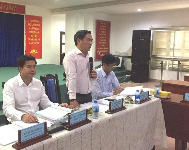 Ông Trần Trọng Tuấn, Giám đốc Sở Xây dựng TPHCM phát biểu tại hội nghị.
