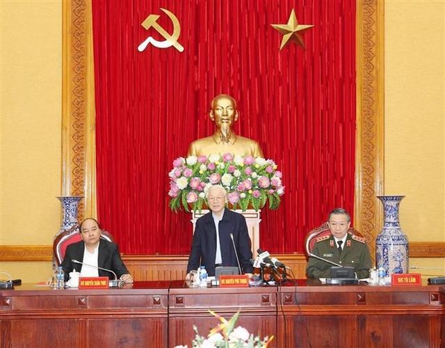 Tổng Bí thư, Chủ tịch nước Nguyễn Phú Trọng phát biểu tại Hội nghị. Ảnh: Trí Dũng- TTXVN