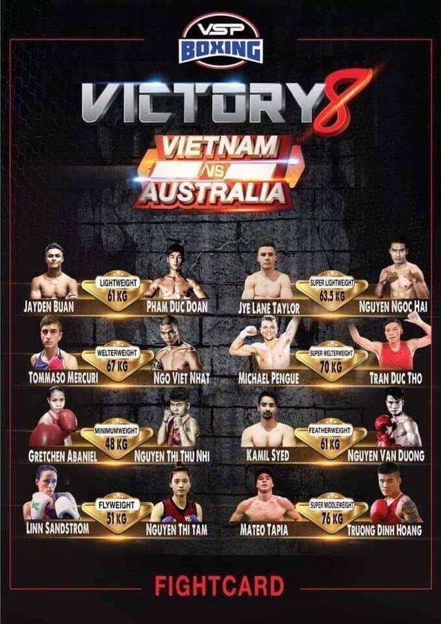 8 trận đấu ở sự kiện Victory 8