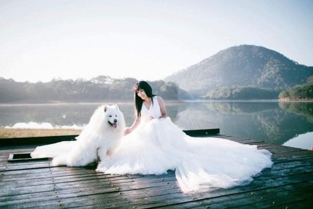 """Ca sĩ Phương Thanh đăng tải chùm ảnh diện váy cưới trên trang cá nhân kèm chia sẻ: """"Em về núi chút đây, gốc em làm cô Long Nữ, chồng em là Dương Quá"""". Nhiều người hâm mộ tò mò chuyện nữ ca sĩ sắp làm đám cưới, tuy nhiên nữ ca sĩ im lặng."""