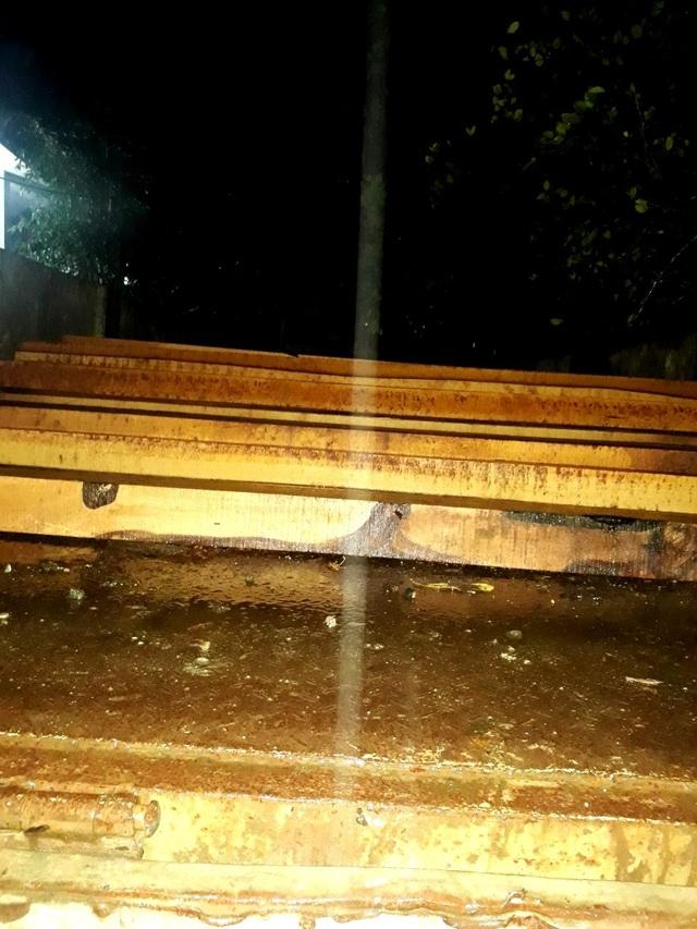 Phát hiện gỗ lậu trong kho Nhà máy thủy điện Sông Tranh 3 - 1