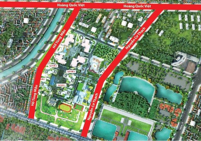 Đường Nguyễn Cơ Thạch khi thông tuyến sẽ tăng cường năng lực giao thông quanh khu vực dự án TNR Goldmark City