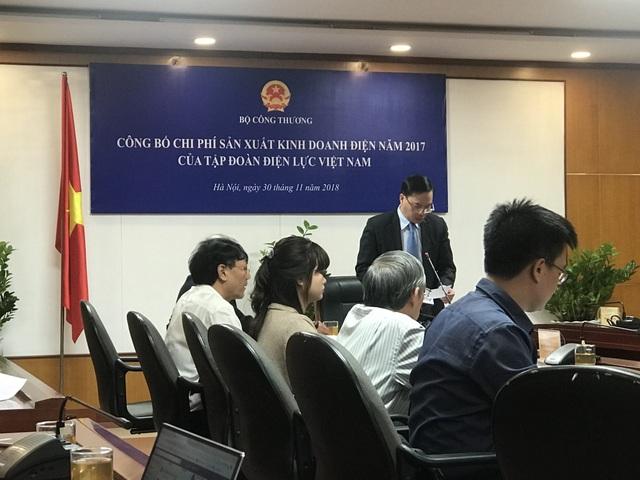 Họp báo công bố chi phí sản xuất kinh doanh điện năm 2017 của Tập đoàn điện lực Việt Nam