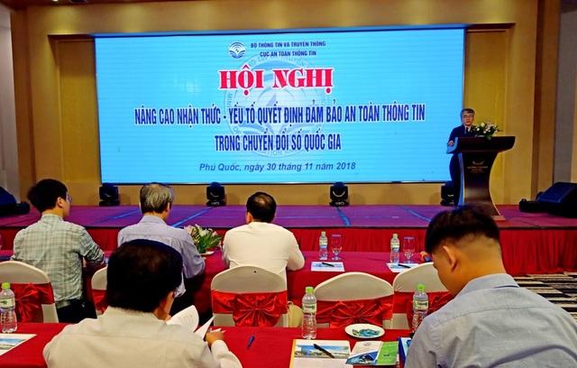 Quang cảnh Hội nghị nâng cao nhận thức - yếu tốt quyết định đảm bảo an toàn thông tin trong chuyển đổi số quốc gia diễn ra vào 30/11 tại Phú Quốc