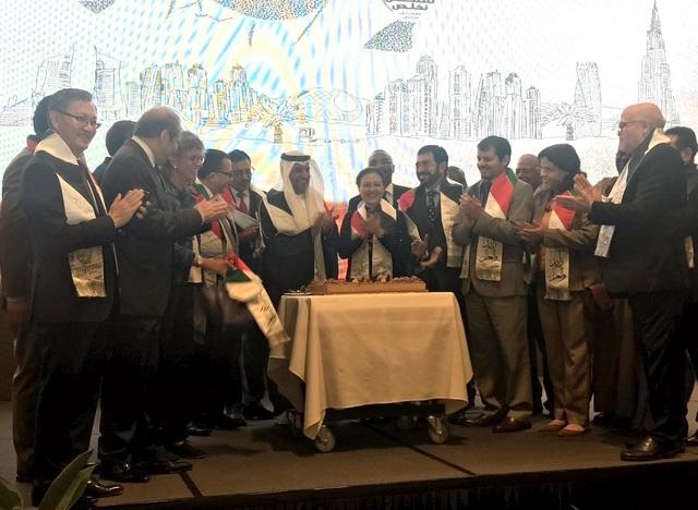 Đại sứ UAE Obaid Saeed Obaid Bintaresh Al Dhaheri và Thứ trưởng Nguyễn Phương Nga cùng các vị khách tại buổi lễ