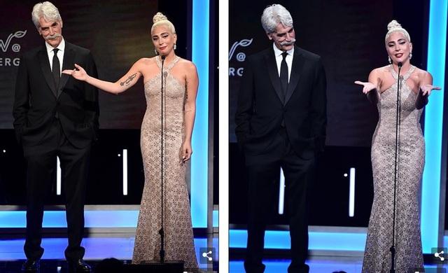Lady Gaga đã rơi nước mắt khi cô bày tỏ lòng kính trọng và yêu mến với bạn của cô Bradley Cooper - người đã mời cô tham gia bộ phim Star Is Born