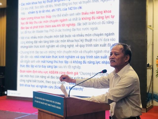Phó giáo sư, Tiến sĩ Nguyễn Thiện Tống góp ý giáo dục ĐH Việt Nam cần thay đổi chương trình cho phù hợp với thời đại