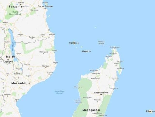 Những đợt sóng địa chấn lạ được ghi nhận ngoài khơi đảo Mayotte ở Ấn Độ Dương. Ảnh: Google
