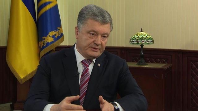 Tổng thống Ukraine Petro Poroshenko (Ảnh: Sky)