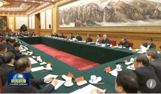 Hàng chục doanh nghiệp tư nhân Trung Quốc tham dự buổi tọa đàm với Chủ tịch Tập Cận Bình. (Ảnh: CCTV)