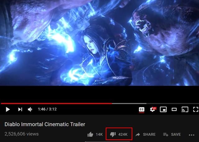 Video mới đăng tải của Blizzard nhận được tỷ lệ dislike kỷ lục, điều chưa từng xuất hiện trong quá khứ của hãng game này.