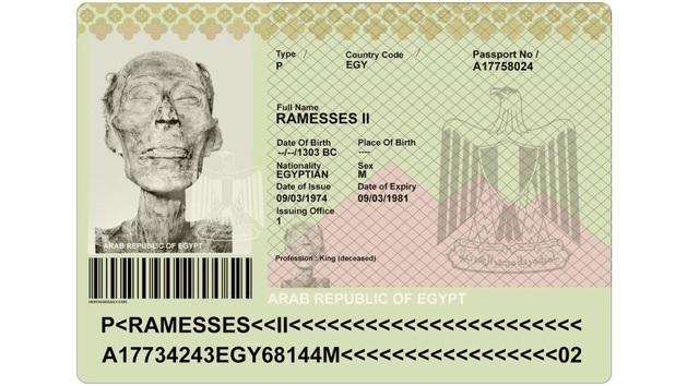 Xác ướp vị Pharaoh đầu tiên và duy nhất của Ai Cập được cấp hộ chiếu