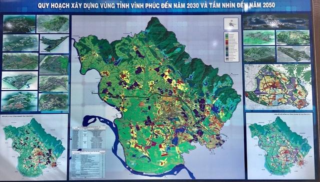 Bản đồ quy hoạch xây dựng vùng tỉnh Vĩnh Phúc.