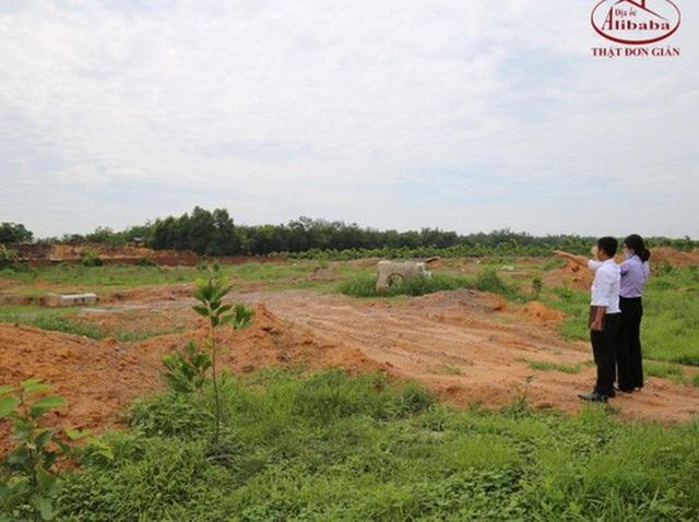 Đất nền ở các tỉnh mà Địa ốc Alibaba đang bán cho khách hàng (Ảnh website của Địa ốc Alibaba)
