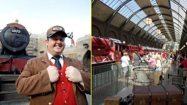 Để di chuyển từ ga King Cross tới làng Hogsmeade, du khách sẽ được đi chuyến tàu đặc biệt tại sân ga 93/4 . Tuy nhiên, nhà ga này lúc nào cũng chật cứng, không khác gì ga King Cross tại London.