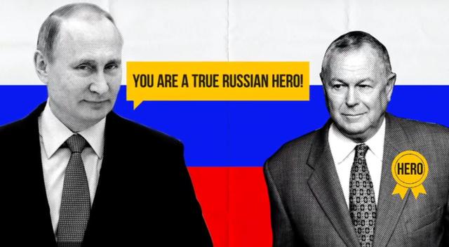 Đoạn hội thoại tưởng tượng do Ủy ban hành động đảng Dân chủ bang California với thông điệp cáo buộc ứng cử viên đảng Cộng hòa Dana Rohrabacher thân Nga (Ảnh: Youtube)