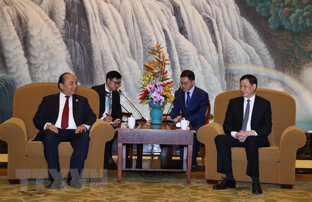 Thủ tướng Nguyễn Xuân Phúc tiếp Thị trưởng thành phố Thượng Hải (ảnh: TTXVN)