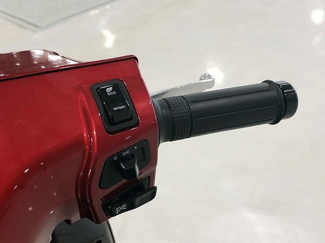 Bên tay phải là phím chuyển đổi chế độ lại Eco/Sport, phím P dùng để dừng xe tương tự số P của hộp số tự động trên ôtô