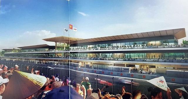 Đồ hoạ thiết kế của khu Pit cho các đội đua và khách VIP.