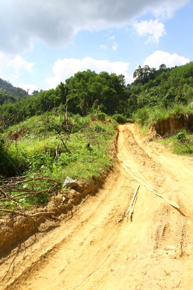 Nhiều đoạn càng lên cao thì toàn đường đất bùn lầy