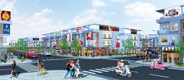 Phối cảnh dự án Bien Hoa New Town 2 tọa lạc ngay mặt tiền đường Nguyễn Thị Tồn, cách trung tâm Biên Hòa một cây cầu