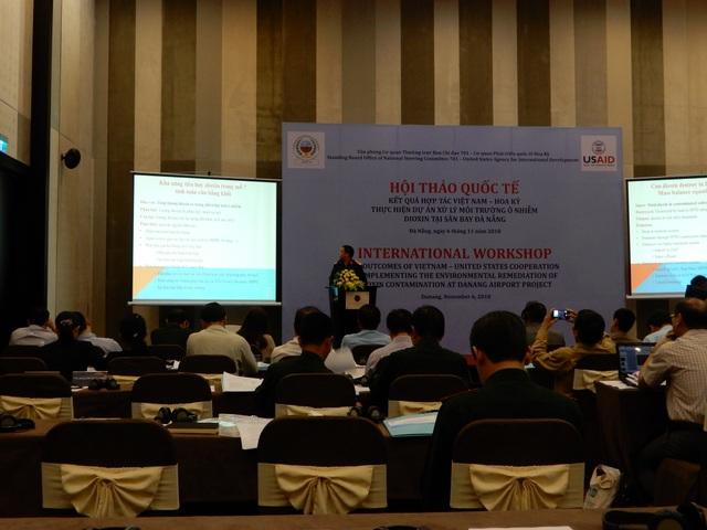 Hội thảo kết quả hợp tác Việt Nam - Hoa Kỳ thực hiện dự án ô nhiễm chất độc dioxin khu vực sân bay Đà Nẵng được tổ chức chiều 6/11