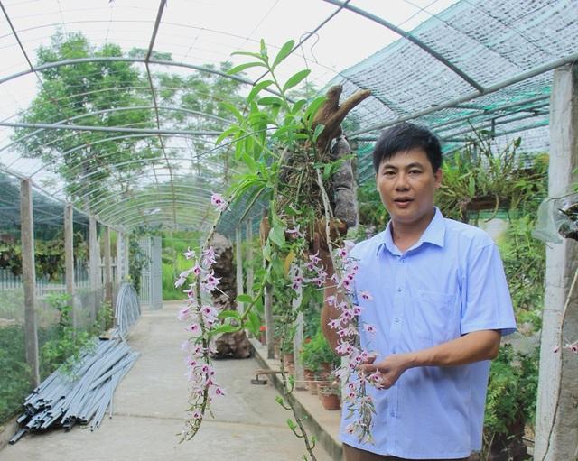 """""""Tôi hiện đang công tác tại Trường THPT Trần Phú. Làm nghề gì cũng cần phải có đam mê. Đặc biệt với tôi thì trồng lan không chỉ là đam mê mà đây còn là nơi tôi áp dụng, thực hành những kiến thức mà tôi được học để từ đó để từ đó góp một phần vào công tác giảng dạy"""", anh Hiếu chia sẻ. Không chỉ vậy, gần 1 năm nay, vườn lan đã mang về cho gia đình anh nguồn thu nhập ổn định từ 30 triệu đến 40 triệu đồng"""