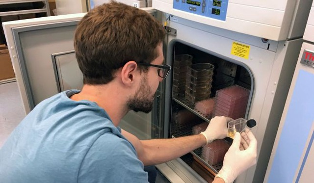 Nhà khoa học làm việc tại trung tâm ung thư tại bệnh viện Johns Hopkins. (Ảnh: AFP)