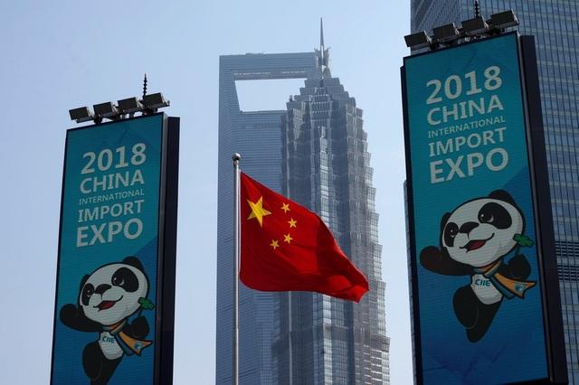 Hội chợ Nhập khẩu Quốc tế Trung Quốc 2018 diễn ra tại Thượng Hải. (Ảnh: AFP)