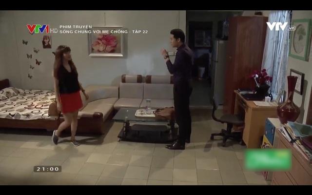 Nhà của Vân và Thanh trong phim Sống chung với mẹ chồng.