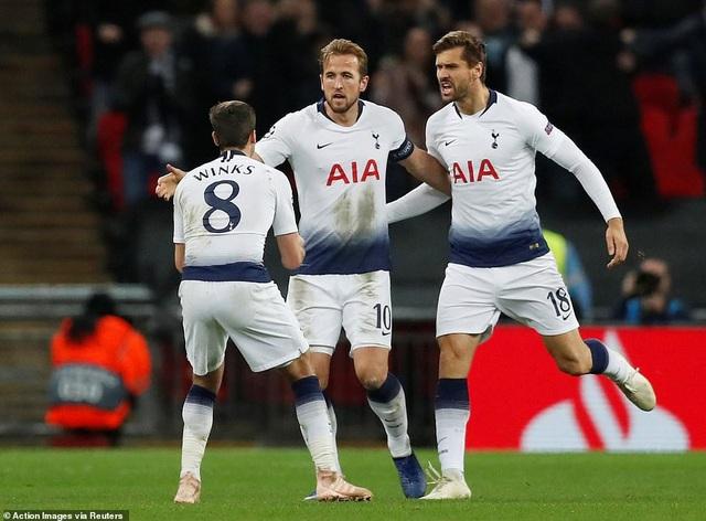 Tottenham nuôi hy vọng đi tiếp với 4 điểm/4 trận, kém đội nhì bảng Inter Milan 3 điểm