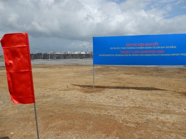 Khu vực bàn giao đất đã được xử lý