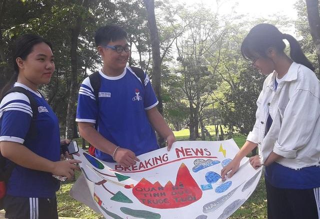 Học sinh Trường THPT Phú Nhuận, TPHCM thực hiện dự án về quan hệ tình dục trước tuổi ở học trò, trong đó nhấn mạnh đến biện pháp quan hệ tình dục an toàn
