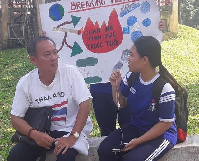 Học trò Trường THPT Phú Nhuận, TPHCM thực hiện dự án về phòng tránh thai, quan hệ tình dục an toàn
