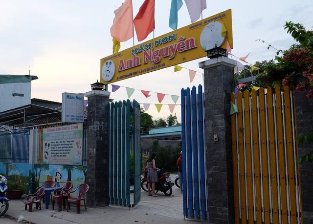 Cơ sở mầm non Anh Nguyên (xã Đông Thạnh, huyện Hóc Môn, TPHCM) đang tạm bị đình chỉ hoạt động.