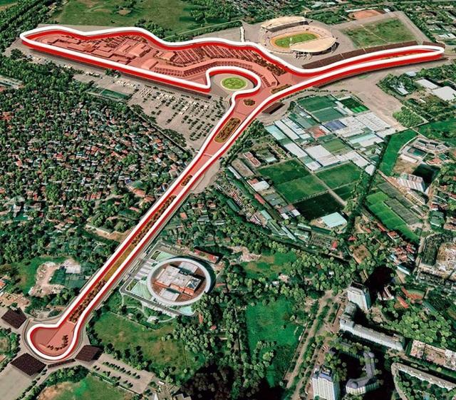 Mô hình đường đua F1 tại Hà Nội