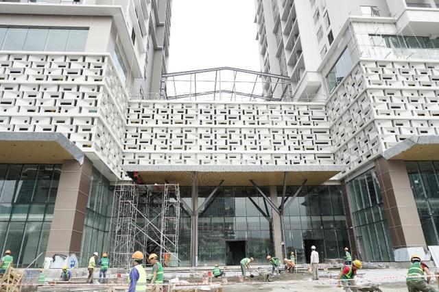 Công trường Sky Park Residence bám sát tiến độ, chuẩn bị sẵn sàng chào đón cư dân.