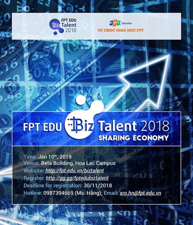 FPT Edu Biz Talent là sân chơi lớn để 33.000 học sinh, sinh viên toàn Tổ chức Giáo dục FPT thi tài Kinh doanh và học hỏi cọ xát từ những bài toán kinh doanh thiết thực.