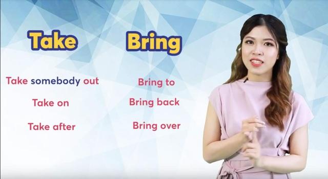 """Học tiếng Anh: 5 phút để phân biệt sự khác nhau của """"Bring"""" và """"Take"""" - 1"""