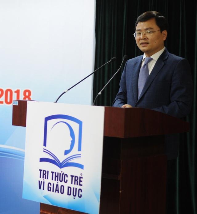 Ông Nguyễn Anh Tuấn, Bí thư thường trực Trung ương Đoàn đánh giá cao chương trình Tri thức trẻ vì giáo dục.