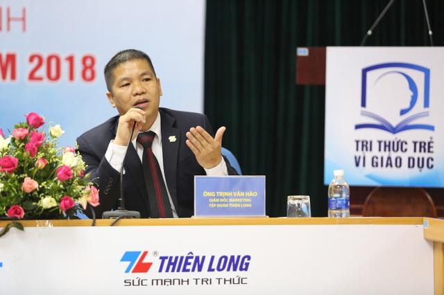 Ông Trịnh Văn Hào, Giám đốc Marketing Tập đoàn Thiên Long cho biết năm nay, chương trình nhận được sự tham gia của nhiều đối tượng từ giáo viên, học sinh, du học sinh, người trẻ khởi nghiệp.